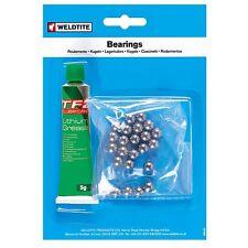 Weldtite loose bike ball bearings & grease various sizes