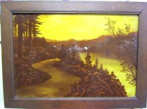 Painting Enamel Engraved On Glass Sign Vine Hype High Poinsignon Majorelle 1900