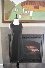 NWT J Crew Petite Sleeveless Shift Dress in Stretch Wool 8P P8 Black $198 16425