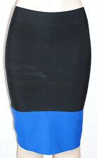 $148 NWT BCBG MAX AZRIA womens SCARLETT *sexy* banded SKIRT blue sapphire *XS