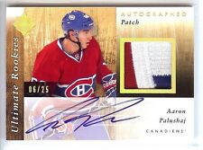 2011-12 ULTIMATE ROOKIES AARON PALUSHAJ RC AUTO 3 COLOR PATCH 06/25!!