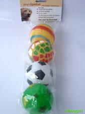 4er Set Hund Hunde Spielball Ball Hundespielzeug Spass Toben Hundeball Topp Neu