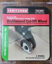 Craftsman Dry Diamond Cut-Off Wheel 9-32365 use w/All-In-One Right Angle 9-32361