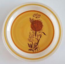 "Vintage 70s JI Stonecrest Autumn Sun Serving Platter Hand Painted Korea 12"""
