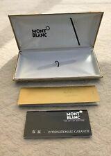 Vintage Mont Blanc Fountain Pen Box w/Instruction Guarantee Booklets