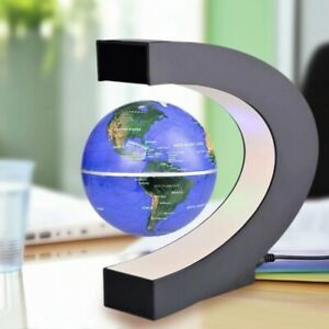 LED Night Light Lamp World Map Magnetic Levitation Floating Antigravity Novelty
