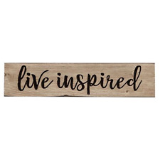 "Rustic wood sign ""LIVE INSPIRED"" distressed Inspirational"