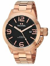 TW Steel Men's CB172 Canteen 50 mm Rose-Gold Tone Bracelet Watch