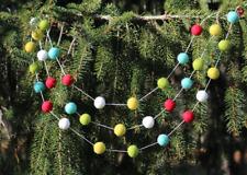 Christmas Garland - Christmas Tree Trim - Vintage Christmas -  9ft/36 Ball