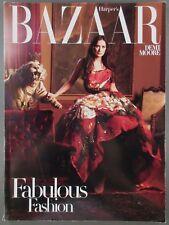 Harper's Bazaar Fashion Magazine April 2008 Demi Moore Cover Story Family Style