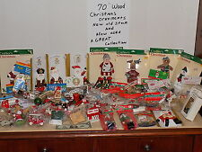 70 Vintage Christmas Ornaments,New Old Stock, Original Packaging and some used