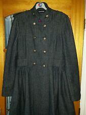 Glamour Gris Style Militaire Manteau Sz 12