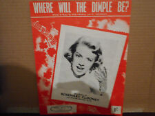 ROSEMARY CLOONEY,  WHERE WILL THE DIMPLE BE 1955