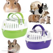 More details for small animal carrier happy pet plastic pet travel cage - hamster gerbil vet trip