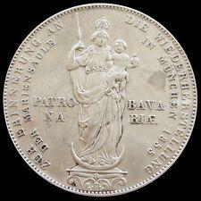 1855 SILVER BAVARIA GERMANY 2 GULDEN THALER MAXIMILIAN II COIN AU/ UNC CONDITION