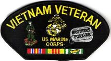 VIETNAM VETERAN - MARINES - BROTHERS FOREVER / DOGTAGS - IRON or SEW ON PATCH