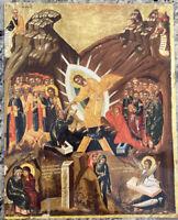 """The Resurrection 14x11"""" Laminated Greek Orthodox Icon #10"""