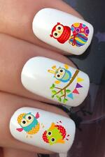 WATER NAIL TRANSFERS EASTER CUTE OWLS BUNNY EGGS WATER DECALS STICKERS *640