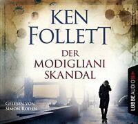 SIMON RODEN - KEN FOLLETT: DER MODIGLIANI-SKANDAL  4 CD NEU