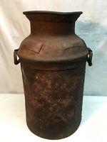 "Vintage 9 Gallon Metal Milk/Creamer Can ( Copper  DAIRY Tag)  Decor 19"" 1900s"