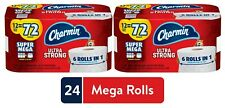 Charmin Ultra Strong Toilet Paper, 2 Pack, Total 24/144 Mega Rolls