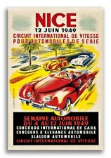 1949 Vintage Style Auto Road Race Poster - Nice France - 24x36