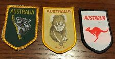 Lot of 3 Vintage Australia Travel Souvenir Patches Koala Kangaroo Patch