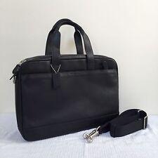 NWT COACH HUDSON COMMUTER LEATHER DOUBLE-ZIP BAG, F71701, BLACK, $550