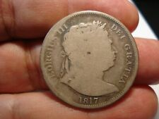 GREAT BRITAIN   SILVER   1/2  CROWN  1817