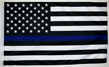 Police Thin Blue Line Flag 3' x 5' Indoor Outdoor Collector Edition Banner