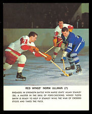 1964-65 TORONTO STARS IN ACTION NM NORM ULLMAN DETROIT RED WINGS HOCKEY PHOTO