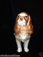 "Enesco E6310 English Springer Spaniel Dog Figurine Brown / Liver Colored 5"" Tall"