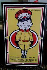 """ARCO KID OIL"" CAN LABEL Sticker Decal Retro Petrol MOTOR OIL ATLANTIC REFINING"