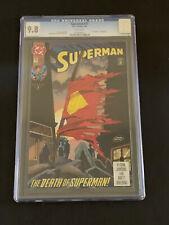 SUPERMAN #75 DC Comics 1993 ! CGC 9.8 ! The Death of Superman !