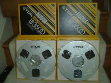 "Lot of 9 Tdk Audua Lb-3600 10.5"" Reel-To-Reel Master Recording Tape -Pro Quality"