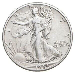 AU/Unc - 1945-D Walking Liberty Silver Half Dollar - Better *302
