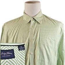 Indigo Palms~Tommy Bahama~Men's XL~Green Stripe~Button Front Office Casual Shirt