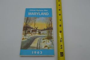 Maryland MD - Official highway Map - 1963
