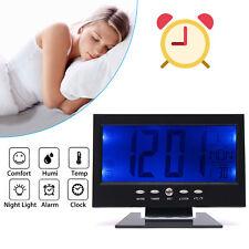 LCD Alarma Reloj Despertador Digital con Dormitar Temperatura Control de sonido