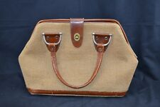 Parklane Vintage Satchel Bag Leather Trim