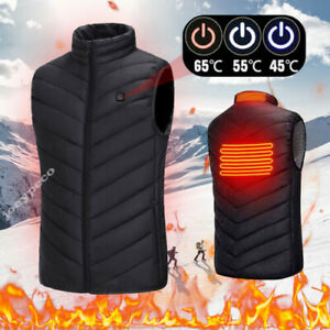 Men Ladies Electric Vest Heated Cloth Jacket USB Warm Up Heating Pad Body Warmer