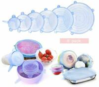 6 Size Silicone Stretch Lids Food Storage Covers Seal Bowl Stretchy Fresh Wrap