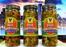 THREE JARS VIENNA BEEF Hot Vegetable Giardiniera for Italian Beef, 16-oz Jar
