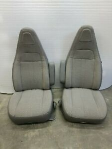 97-20 Chevy Express/GMC Savana Van Pair LH & RH Gray Cloth Power Bucket Seats