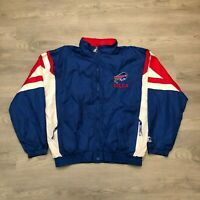 VTG Buffalo Bills Mens NFL Starter Embroidered Spell Out Color Block Jacket XL