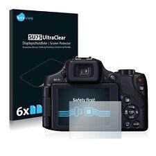 6x Protector Pantalla Canon PowerShot SX60 HS Pelicula Protectora Transparente