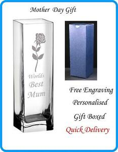Mothers Day Engraved Vase Personalised Heart