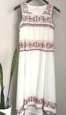 Tularosa Sleeveless Embroidered Midi Dress XS