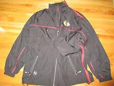 Reebok CHICAGO BLACK HAWKS Hockey Embroidered Zippered (MED) Jacket