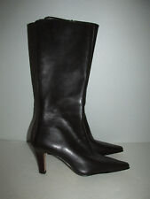 New Anne Klein Amber Boots Size 6 Brown Leather Pointy Toe